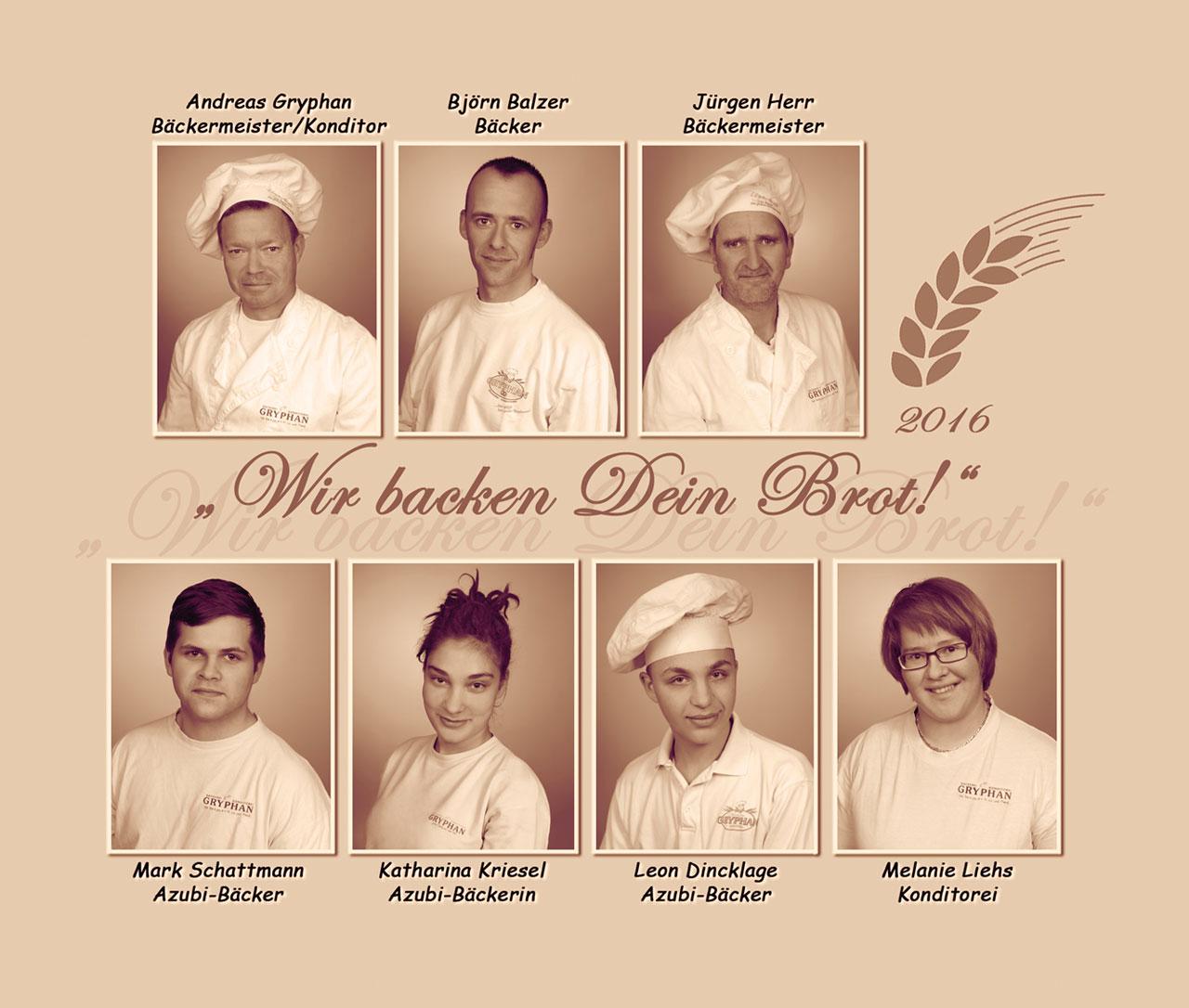 Bäckerei Gryphan Team