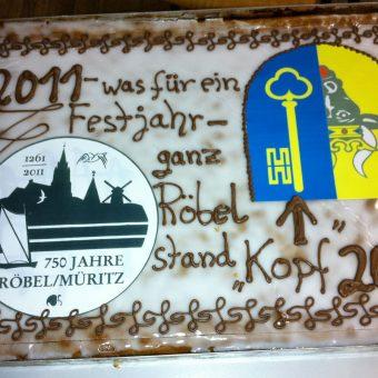 Festtagstorte 750 Jahre Röbel