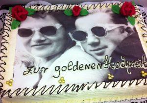 Fototorte Goldene Hochzeit