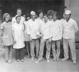 Bäckerei Gryphan Team historisch
