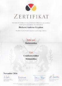 Zertifikat Qualitätsprüfung IQBack 2016
